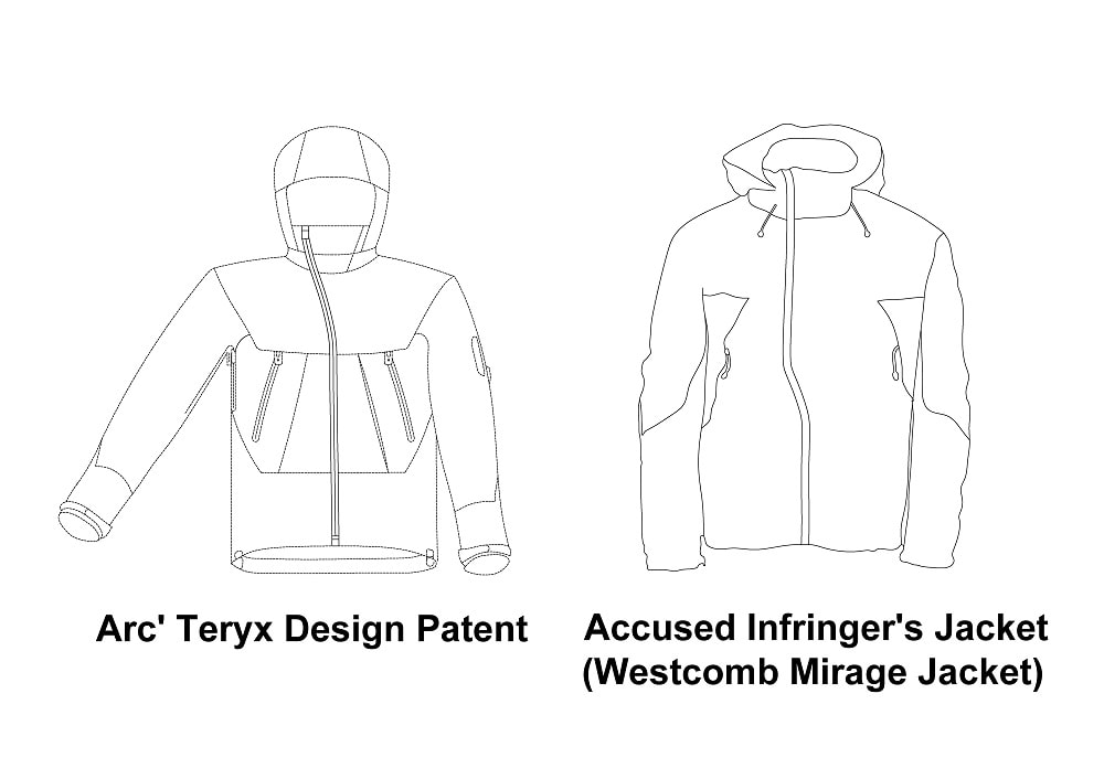 Figure 5 ArcTeryx Equip Inc v Westcomb Outerwear Inc Alleged Patent Infringement Example