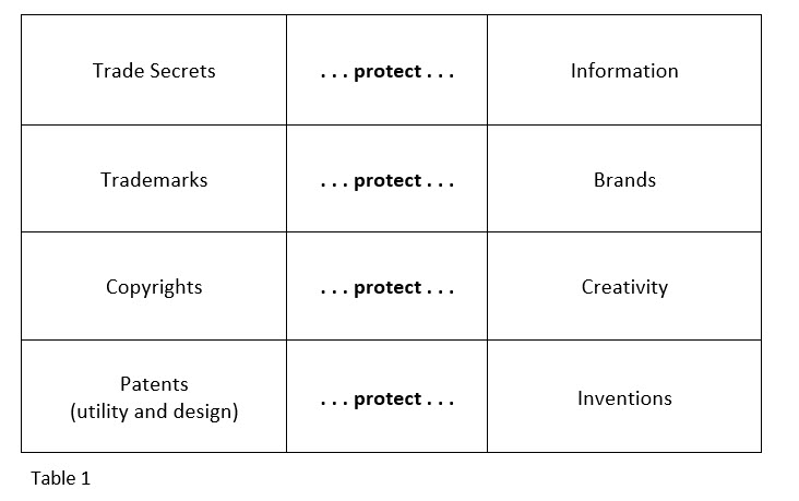 Type of Intellectual Property protection