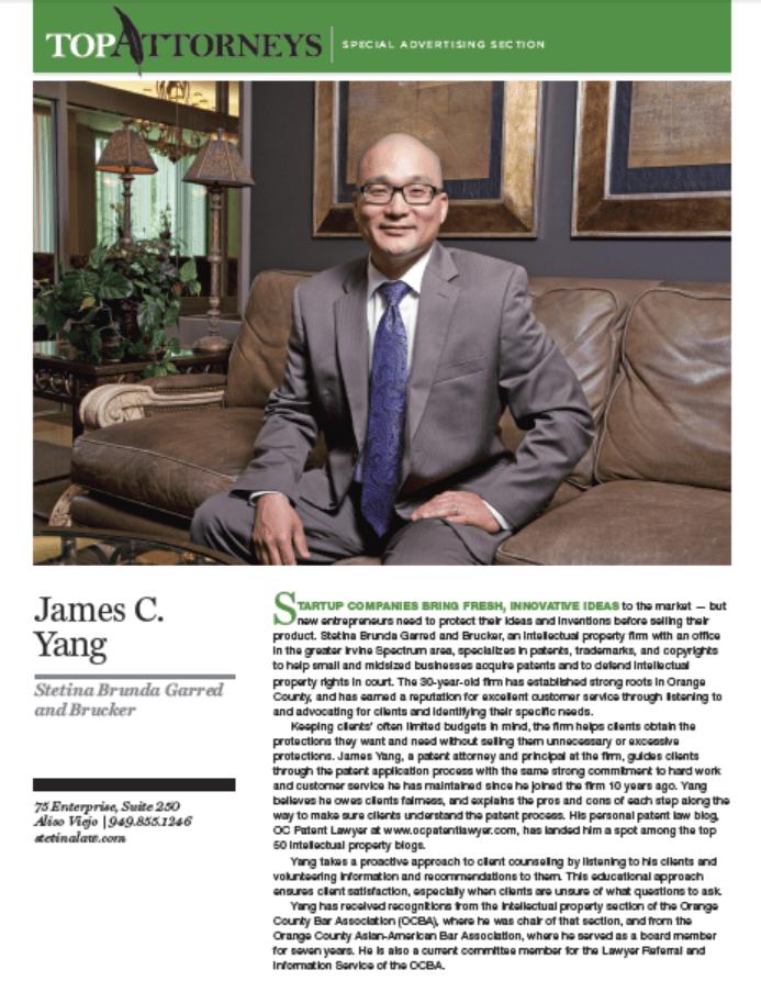 OC Metro Top Attorney James Yang